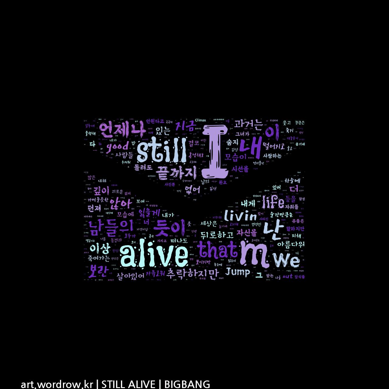 워드 아트: STILL ALIVE [BIGBANG]-4